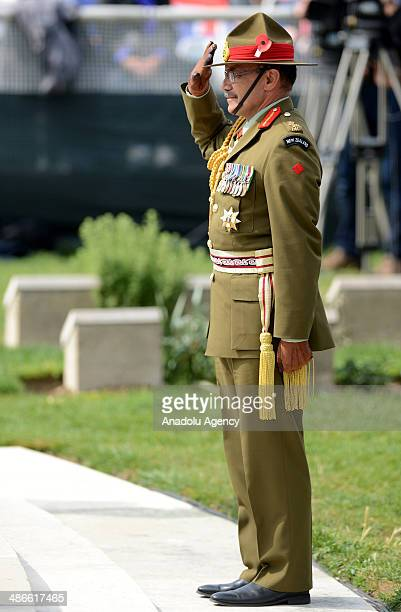 New Zealand's GovernorGeneral Sir Jerry Mateparae attends the 99th anniversary of Gallipoli land campaign held at the Lone Pine cemetary during the...