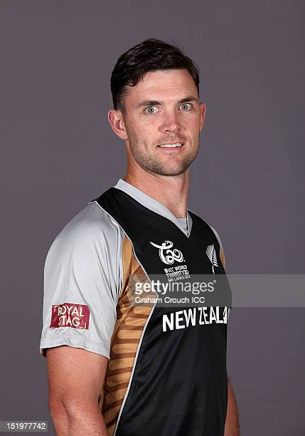 New Zealand's James Franklin poses during a portrait session ahead of the ICC T20 World Cup on September 14 2012 in Colombo Sri Lanka