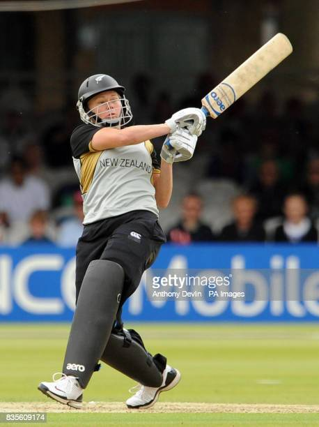 New Zealand's Kate Pulford bats during the Final of the Women's ICC World Twenty20 at Lords London