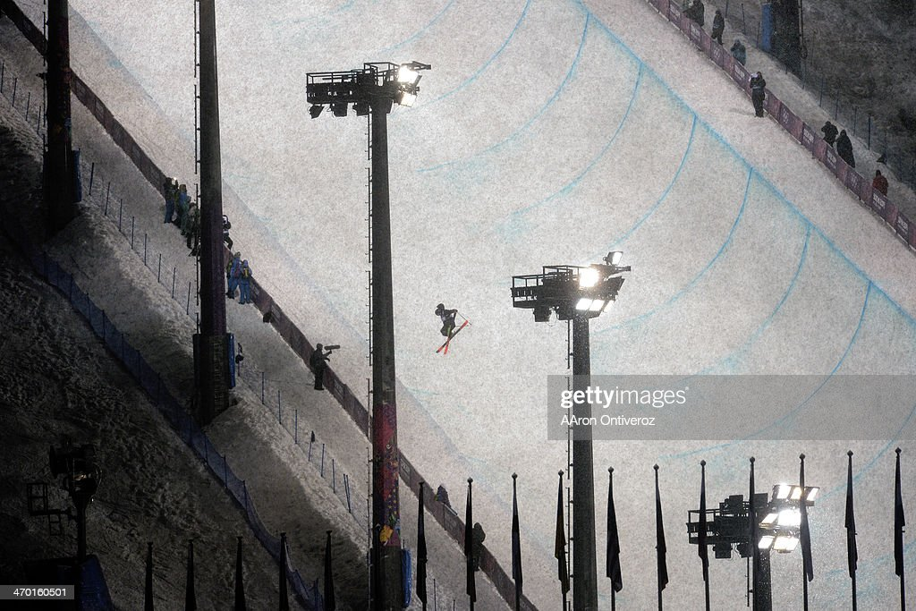 New Zealand's <a gi-track='captionPersonalityLinkClicked' href=/galleries/search?phrase=Lyndon+Sheehan&family=editorial&specificpeople=6217383 ng-click='$event.stopPropagation()'>Lyndon Sheehan</a> flips during the men's ski halfpipe final. Sochi 2014 Winter Olympics on Tuesday, February 18, 2014.