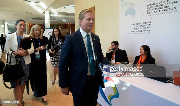 New Zealand's Minister of Trade Todd Michael McClay attends the Pacific Alliance Ministers' Summit in Vina del Mar Chile on March 15 2017 The...
