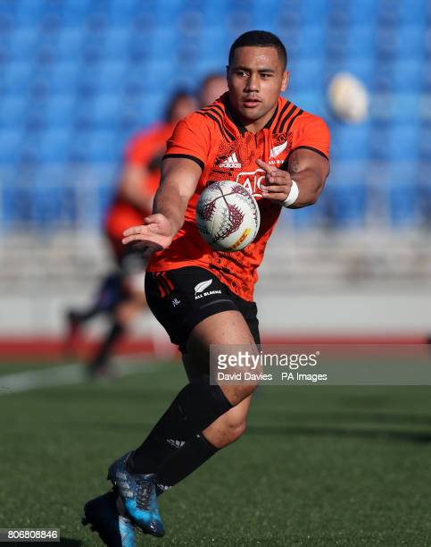 New Zealand's Ngani Laumape during a training session at The Trust Arena Henderson