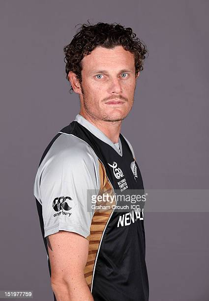New Zealand's Rob Nicol poses during a portrait session ahead of the ICC T20 World Cup on September 14 2012 in Colombo Sri Lanka