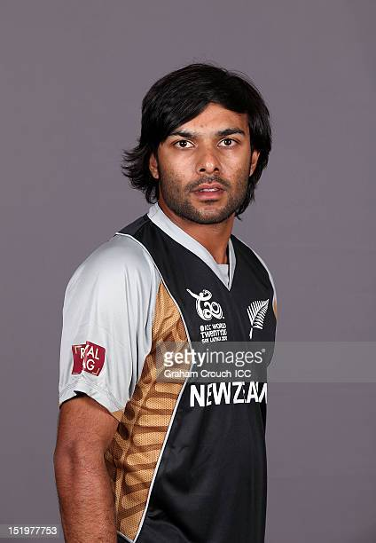 New Zealand's Ronnie Hira poses during a portrait session ahead of the ICC T20 World Cup on September 14 2012 in Colombo Sri Lanka
