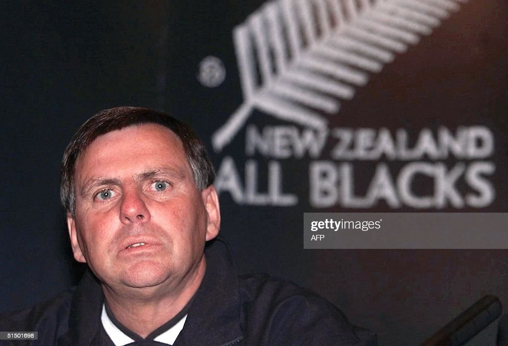 New Zealand's rugby team coach John Hart announces his resignation in a Cardiff hotel 05 November 1999 after the All blacks lost the Rugby World Cup third ... - new-zealands-rugby-team-coach-john-hart-announces-his-resignation-in-picture-id51501698
