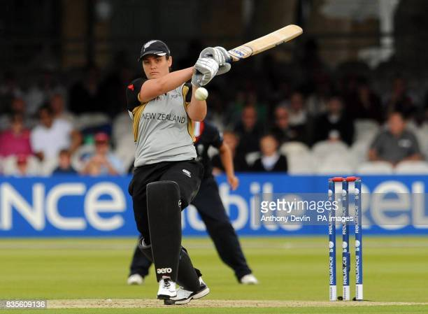 New Zealand's Sarah Tsukigawa bats during the Final of the Women's ICC World Twenty20 at Lords London