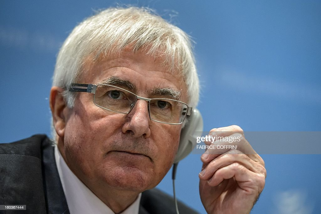New Zealand's trade minister Tim Groser looks on during a press conference following a hearing on January 30, 2013 at the World Trade Organization (WTO) headquarters in Geneva. WTO si interviewing nine candidates to replace Pascal Lamy as director general. The WTO's 158 member countries is to make its decision known by May 31.