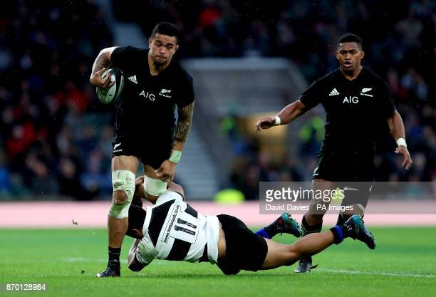 New Zealand's Vaea Fifita in action during the Autumn International match at Twickenham London