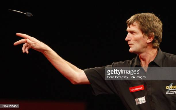 New Zealand's Warren French against Japan's Akihiro Nagakawa during the Ladbrokescom World Championship at Alexandra Palace London