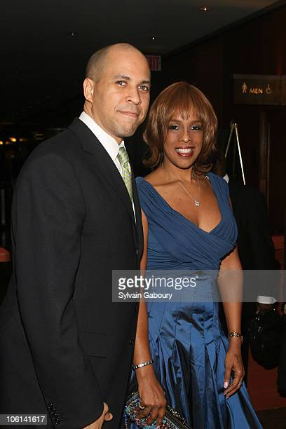 Newark Mayor Cory Booker and Gayle King during The 27th Annual One Hundred Black Men Benefit Gala at New York Hilton Hotel at 1335 Avenue of the...