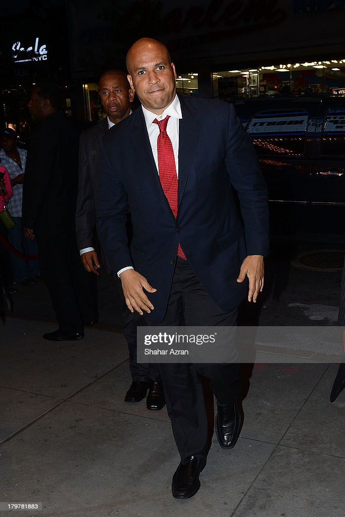 Newark Mayor Cory Booker attends 'Advancing The Dream: Live From The Apollo' Hosted By Reverend Al Sharpton at The Apollo Theater on September 6, 2013 in New York City.