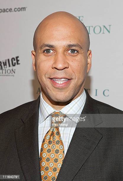Newark Mayor Cory Booker attends The Huffington Post preinaugural ball at the Newseum on January 19 2009 in Washington DC