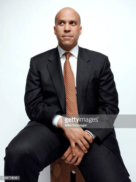 Newark mayor Cory Booker is photographed for Bloomberg Businessweek on February 8 2011 in Newark New Jersey