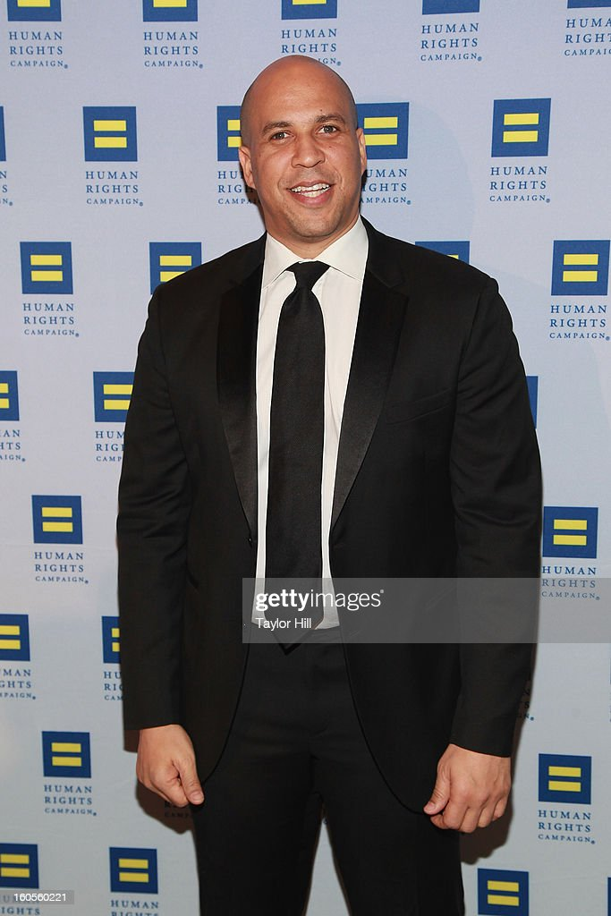 Newark, New Jersey Mayor Cory Booker attends The 2013 Greater New York Human Rights Campaign Gala at The Waldorf=Astoria on February 2, 2013 in New York City.