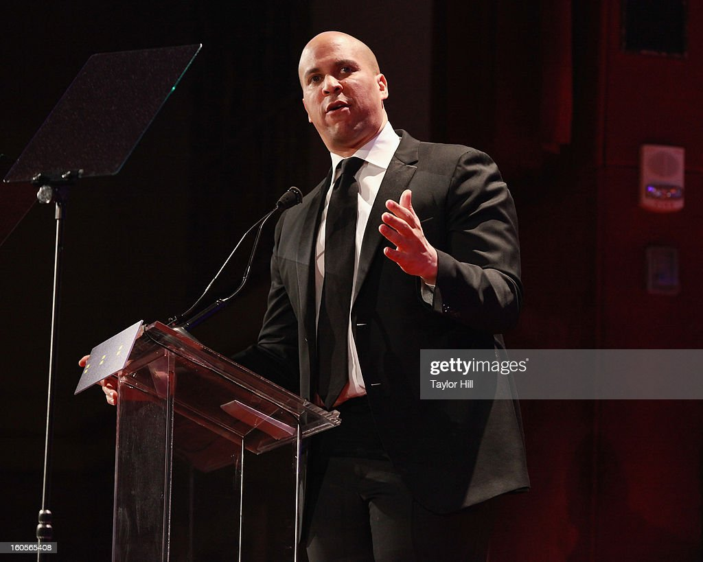 Newark, New Jersey mayor Cory Booker speaks at The 2013 Greater New York Human Rights Campaign Gala at The Waldorf=Astoria on February 2, 2013 in New York City.