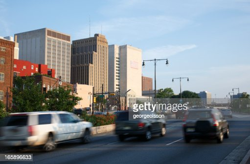 Newark, NJ Downtown Highway On The Move