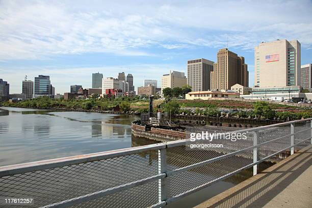 Newark, NJ river front city skyline