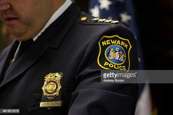 Newark Police Chief Anthony Campos speaks at a press conference regarding the Department of Justice's investigation of the Newark Police Department...