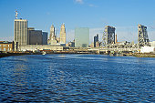 Newark skyline from the river