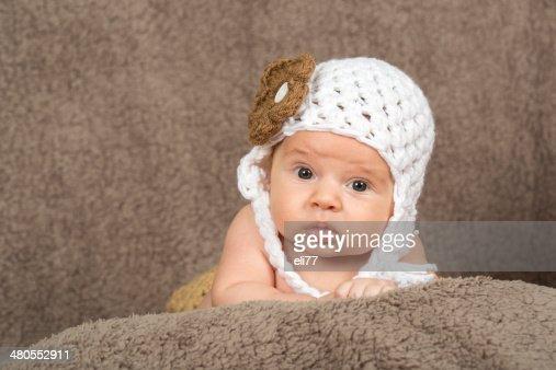 Retrato de niño bebé recién nacido : Foto de stock