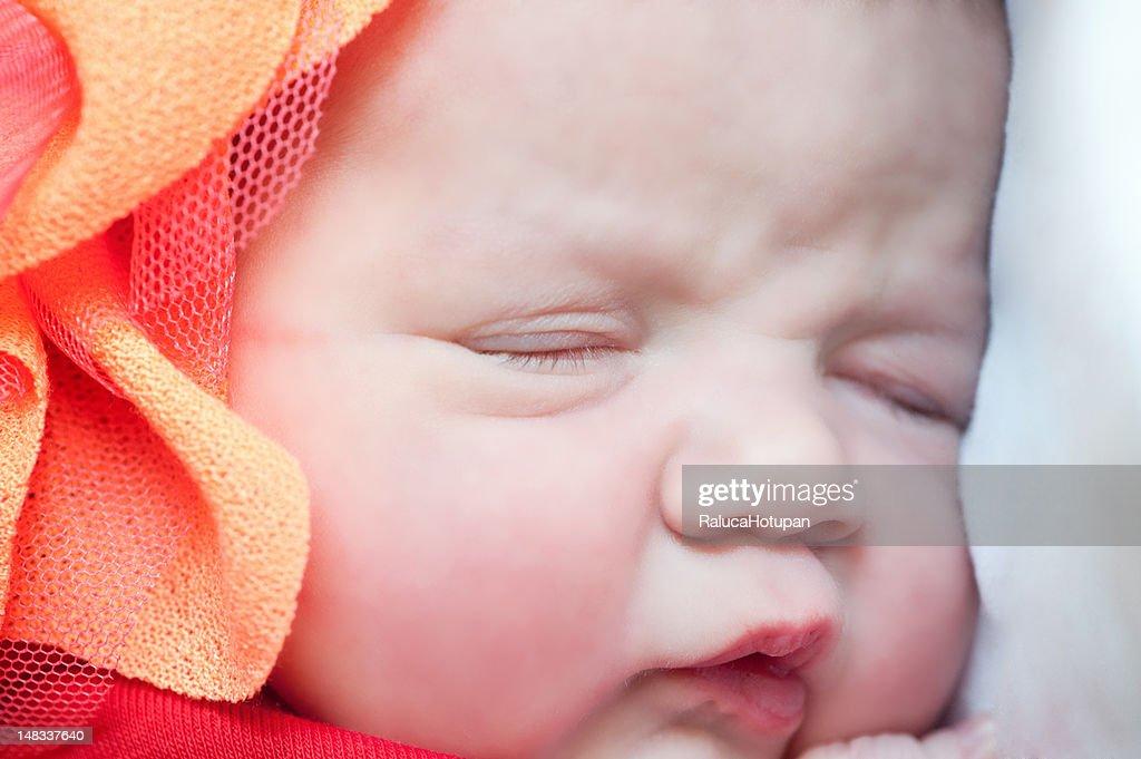 Newborn baby girl : Stock Photo