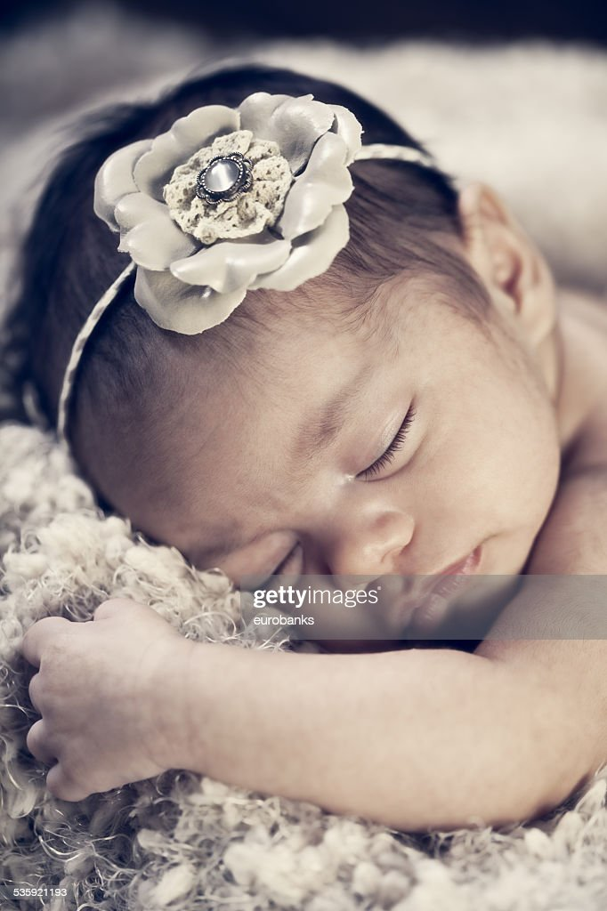 Newborn Baby Girl : Stock Photo