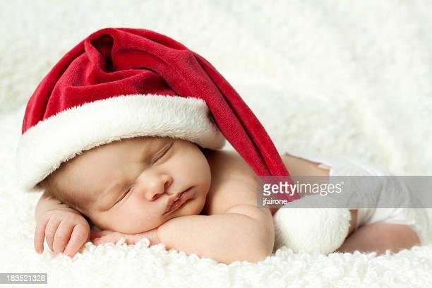 新生児、サンタの帽子