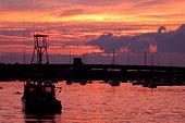 Newburyport Harbor at night