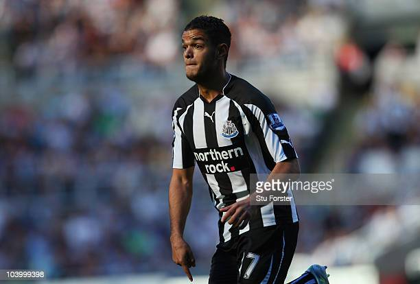 Newcastle forward Hatem Ben Arfa in action during the Barclays Premier League match between Newcastle United and Blackpool at St James' Park on...