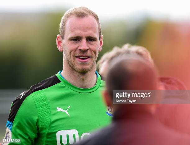 Newcastle Goalkeeper Matz Sels during the Premier League 2 Match between Newcastle United and Fulham at Whitley Park on April 10 2017 in Newcastle...