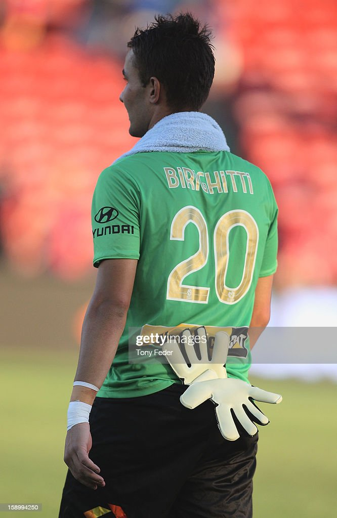 Newcastle jets goalkeeper Mark Birighitti after the match during the round 15 A-League match between the Newcastle Jets and Adelaide United at Hunter Stadium on January 5, 2013 in Newcastle, Australia.