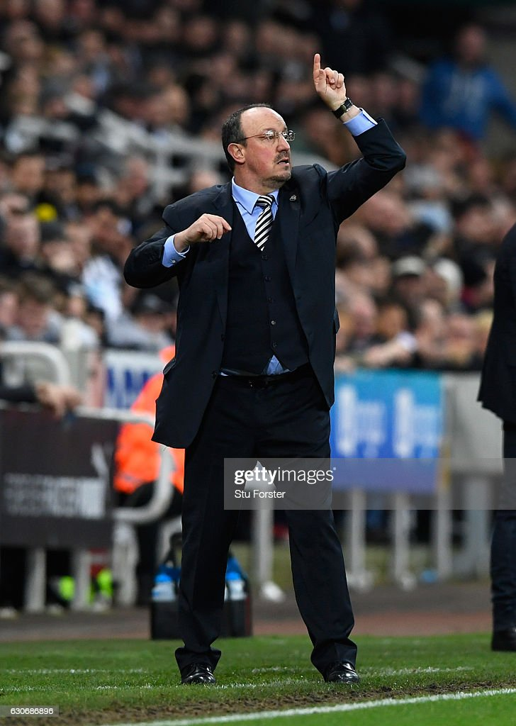 Newcastle manager Rafa Benitez reacts during the Sky Bet Championship match between Newcastle United and Nottingham Forest at St James' Park on December 30, 2016 in Newcastle upon Tyne, England.