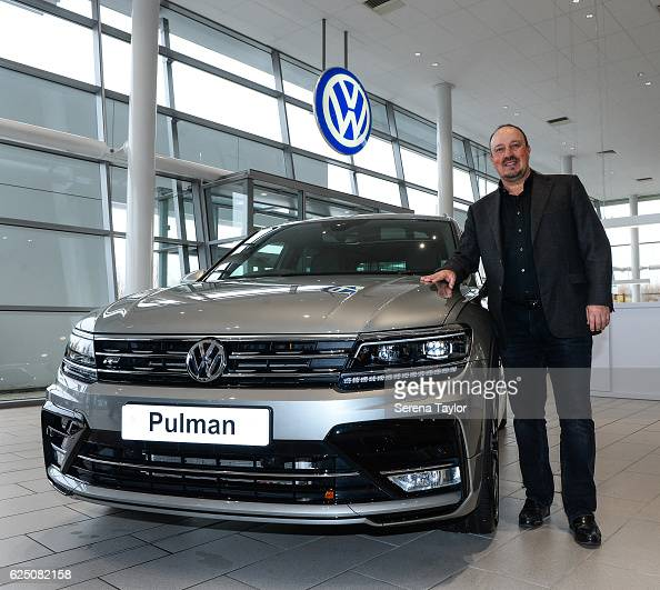 Newcastle Manager Rafael Benitez poses for a photograph at Pulman Volkswagen whilst visiting some of the North East of England Landmarks on November...