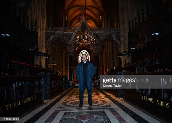 Newcastle Manager Rafael Benitez poses for a photograph inside Durham Cathedral whilst visiting landmarks in the North East of England on November 22...