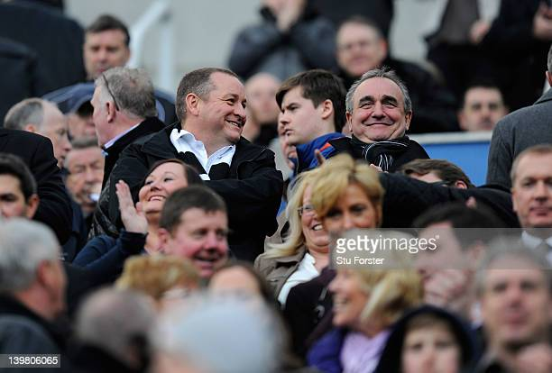 Newcastle owner Mike Ashley looks on before the Barclays Premier League match between Newcastle United and Wolverhampton Wanderers at Sports Direct...