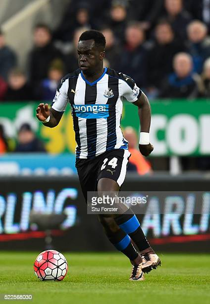 Newcastle player Cheick Tiote in action during the Barclays Premier League match between Newcastle United and Manchester City at St James' Park on...