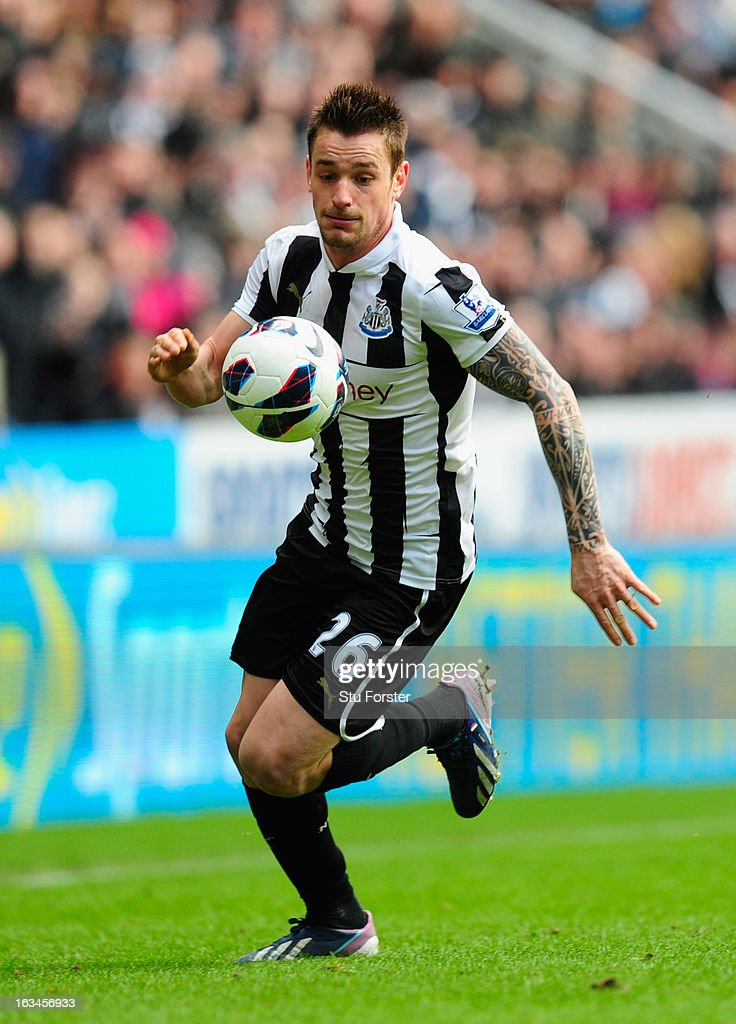 Newcastle player <a gi-track='captionPersonalityLinkClicked' href=/galleries/search?phrase=Mathieu+Debuchy&family=editorial&specificpeople=729104 ng-click='$event.stopPropagation()'>Mathieu Debuchy</a> in action during the Barclays Premier League match between Newcastle United and Stoke City at St James' Park on March 10, 2013 in Newcastle upon Tyne, England.