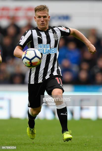 Newcastle player Matt Ritchie in action during the Premier League match between Newcastle United and Stoke City at St James Park on September 16 2017...