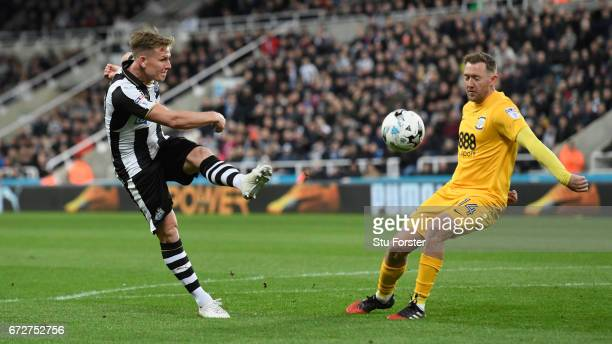 Newcastle player Matt Ritchie in action during the Sky Bet Championship match between Newcastle United and Preston North End at St James' Park on...