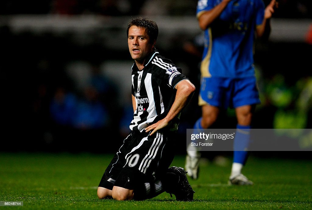 Newcastle player Michael Owen looks on dejectedly after a miss during the Premier League match between Newcastle United and Portsmouth at St James'...