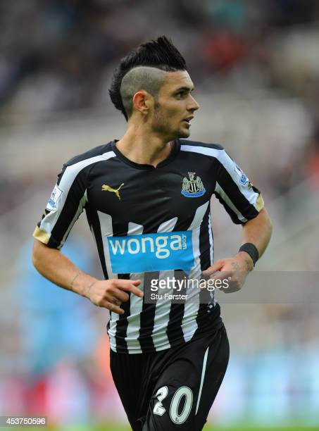 Newcastle player Remy Cabella in action during the Barclays Premier League match between Newcastle United and Manchester City at St James' Park on...