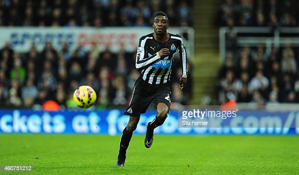 Newcastle player Sammy Ameobi in action during the Barclays Premier League match between Newcastle United and Sunderland at St James' Park on...