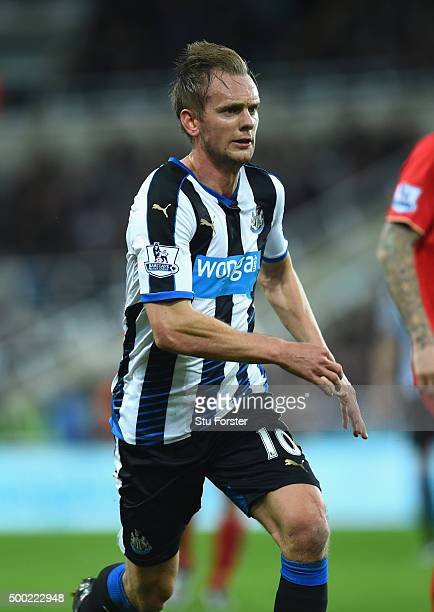 Newcastle player Siem De Jong in action during the Barclays Premier League match between Newcastle United and Liverpool at St James' Park on December...