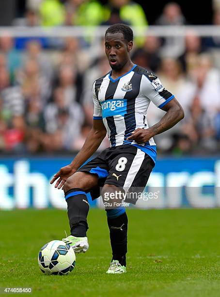 Newcastle player Vurnon Anita in action during the Barclays Premier League match between Newcastle United and West Ham United at St James' Park on...