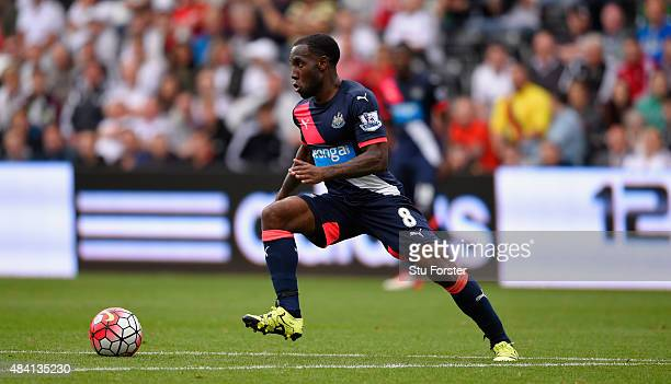Newcastle player Vurnon Anita in action during the Barclays Premier League match between Swansea City and Newcastle United at the Liberty stadium on...