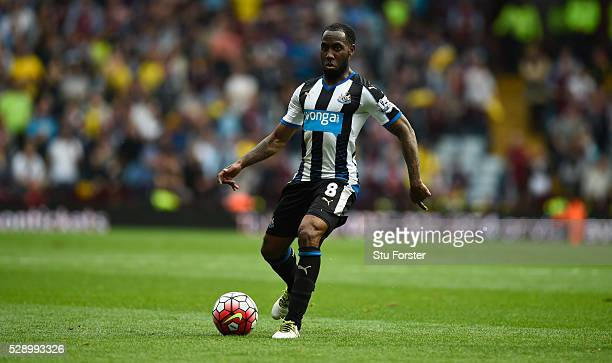 Newcastle player Vurnon Anita in action during the Barclays Premier League match between Aston Villa and Newcastle United at Villa Park on May 7 2016...