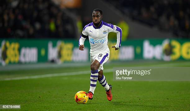 Newcastle player Vurnon Anita in action during the EFL Cup QuarterFinal match between Hull City and Newcastle United at KCOM Stadium on November 29...