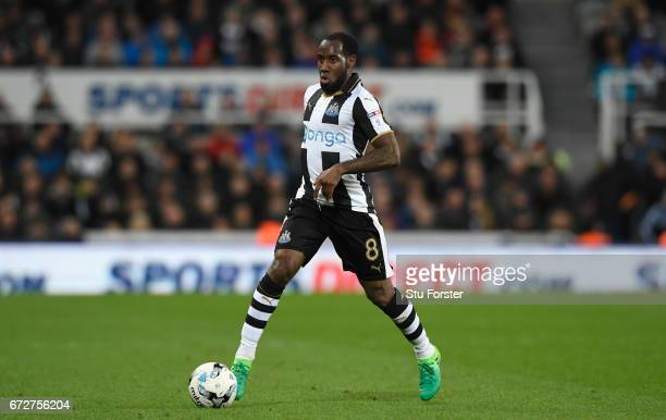 Newcastle player Vurnon Anita in action during the Sky Bet Championship match between Newcastle United and Preston North End at St James' Park on...