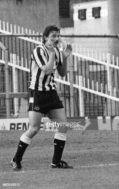 Newcastle Reserves v Leicester Reserves new signing Bjorn Kristensen in action 30th March 1989