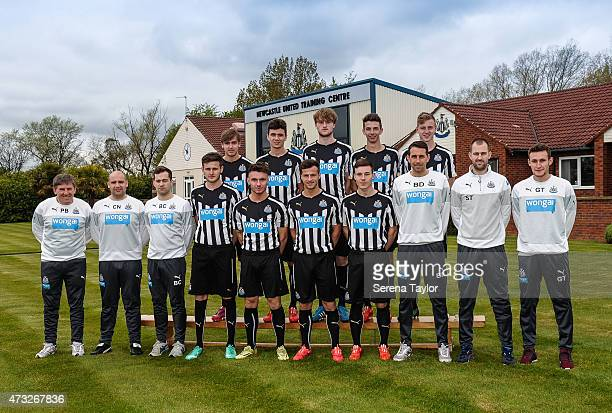 Newcastle U21 Squad Liam Smith Alex Gilliead Tom Heardman Daniel Barlaser and Callum Williams Football Development Manager Peter Beardsley...